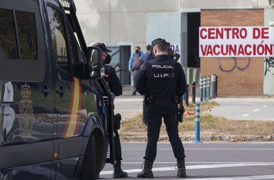 vacuna policia española - europa press