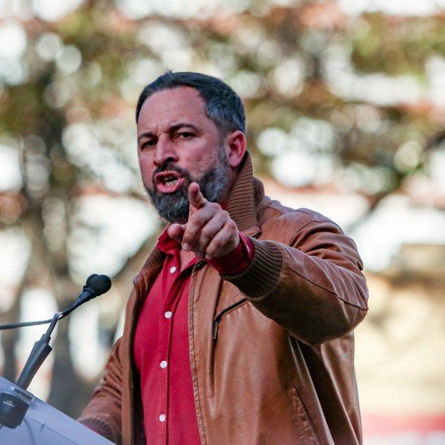 Europapress Presidente Vox Santiago Abascal Interviene Mitin Distrito Hortaleza