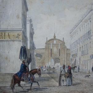 Mor Josep Maria Pla, 18è president d'Uruguai. Vista de Montevideo (circa 1860). Font Museo Nacional Historico. Montevideo
