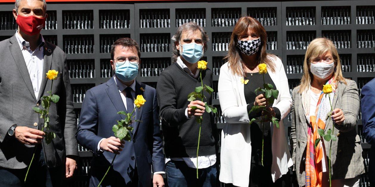 Jordi Cuixart Laura Borras Pere Aragones   Sergi Alcazar