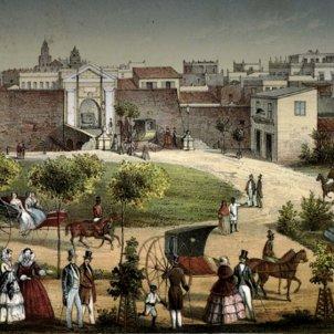 Un incendi devasta el barri català de l'Havana. Gravat de l'Havana (principis del segle XIX). Font Oficina del historiador cubano