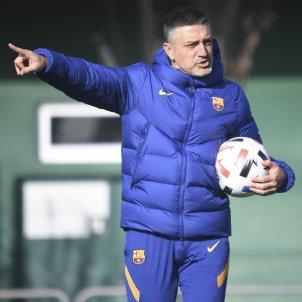 Garcia Pimienta entrenamiento Barca @FCB