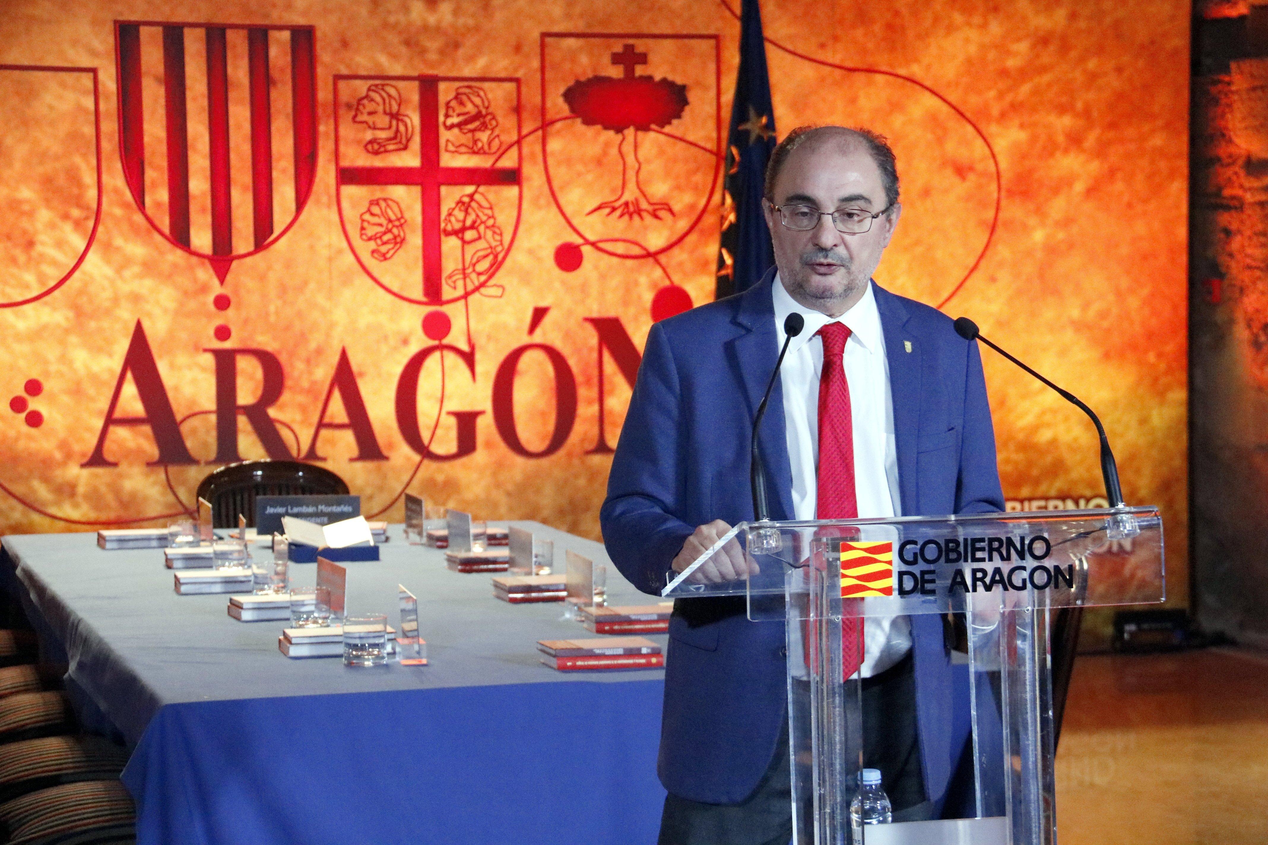 Tuf de catalanofòbia de Lambán, que titlla de 'capos' els membres del Govern