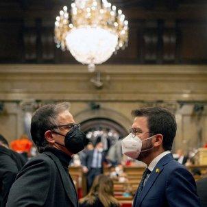 Josep Maria Jové y Pere Aragonès Parlament abril 2021 / pool Efe