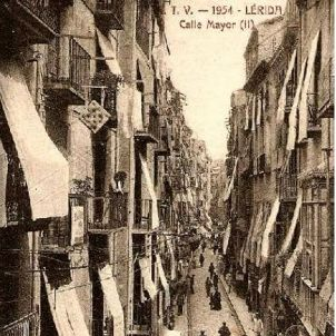Lleida. Carrer Major. 1954