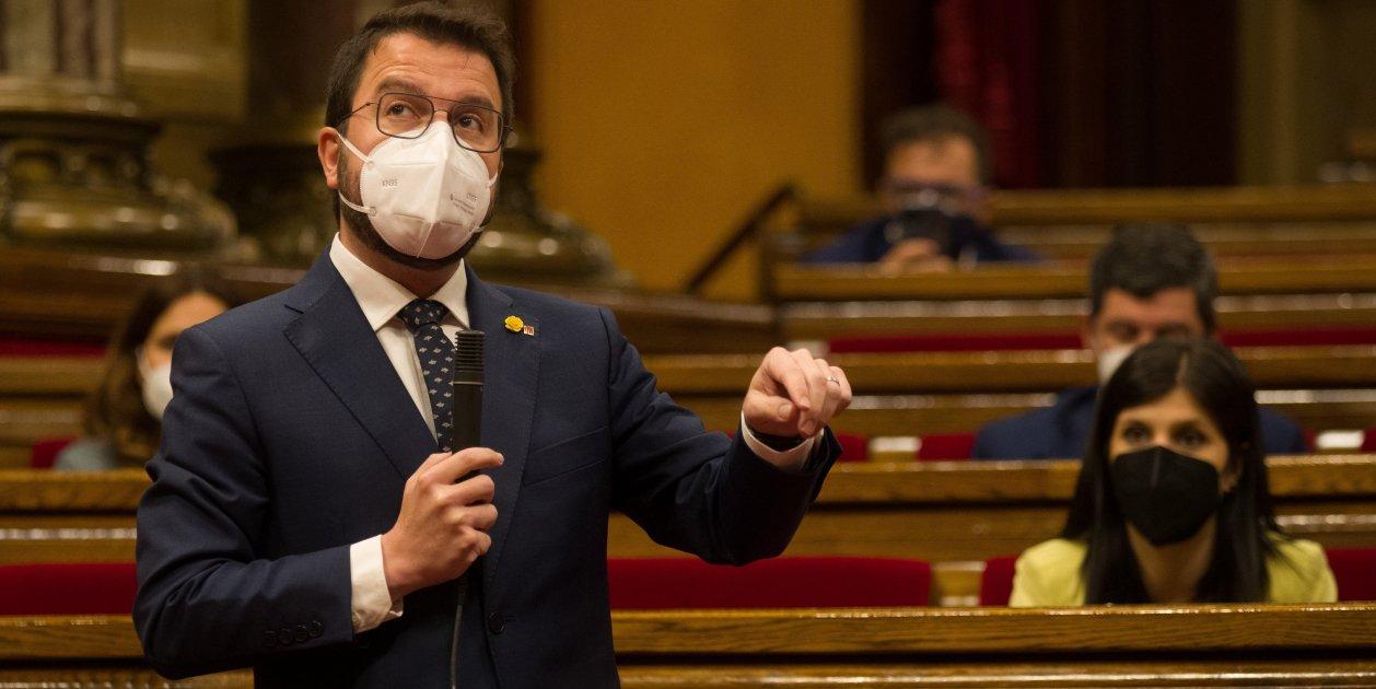 Pere Aragones Al Parlament   Efe (3)