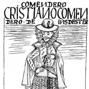 Ferran el Catòlic ordena als colons americans la construcció d'esglésies. Representació d'un encomendero. Font Wikimedia Commons
