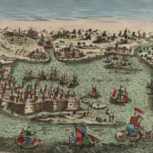 Gravat de Càdis (principis del segle XVIII), obra del cartograf Basset. Font Cartoteca de Catalunya