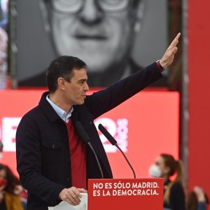 Pedro Sánchez acto fin campaña Madrid - Efe