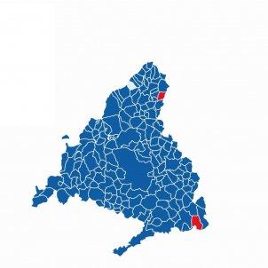 Mapa elecciones comunidad madrid 2021