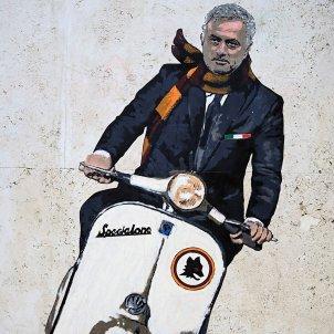 Mourinho Roma Mural / EFE