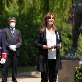 Presidenta Parlament Laura Borràs homenaje víctimas Segunda Guerra Mundial / Twitter Presidenta Laura Borràs