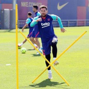Entrenamiento Messi / FCB