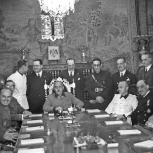 Franco ordena que Espanya abandoni la Societat de Nacions. Consell de ministres (1939). Font EFE