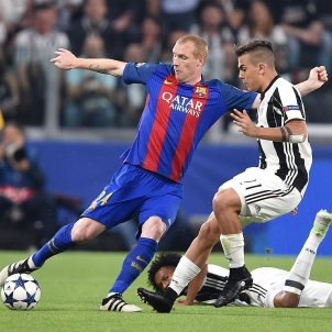 Jeremy Mathieu Dybala Barça Juventus EFE