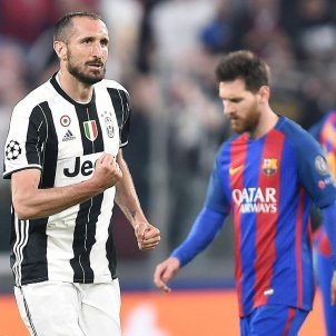 Messi Chiellini Barça Juventus Champions League Efe
