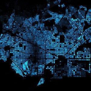 mapa densitat poblacio barcelona