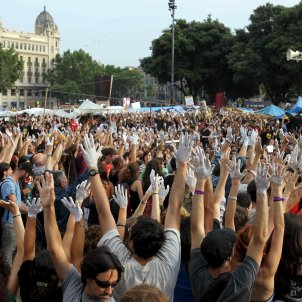 Indignados plaza Catalunya 15-M / EFE