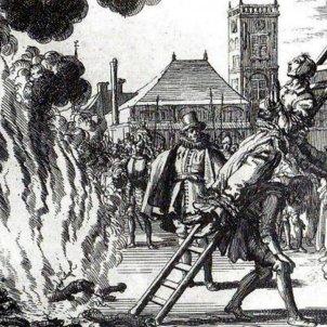 Gravat d'una execució de bruixes a França. Font Pinterest