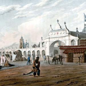 Representació del mercat de la Recova. Buenos Aires (1820), obra de Emeric Essex Vidal. Font Biblioteca Virtual Miguel de Cervantes