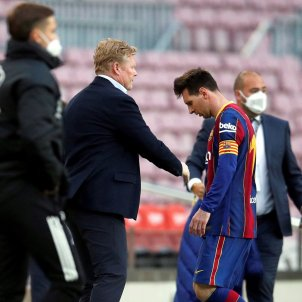 Ronald Koeman Barca Leo Messi EFE