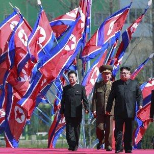 El líder de Corea del Nord, Kim Jong-un, en una inauguració a Pyongyang / EFE