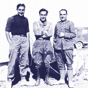 Neix Moisés Broggi, precursor dels quirofans mòbils. Moisés Broggi al front de guerra. Font Galeria de Metges Catalans