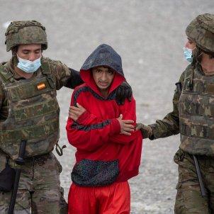 militares inmigrantes ceuta marruecos EFE