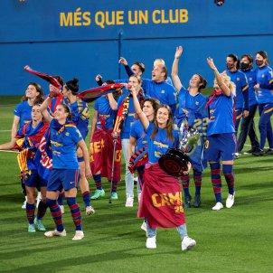 Barca femenino celebracion doblete Johan Cruyff EFE