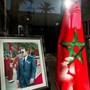 EuropaPress bandera marruecos fotografia rey mohamed vi escaparate rabat BUENO