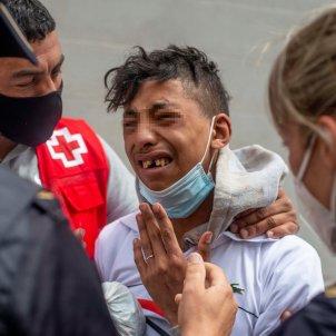 efe migrant immigrant nen ceuta port el tarajal marroc
