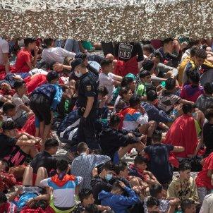 efe migrants el tarajal ceuta marroc immigrants