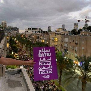 Manifestación israel palestina paz Portada @omdimbeyachad