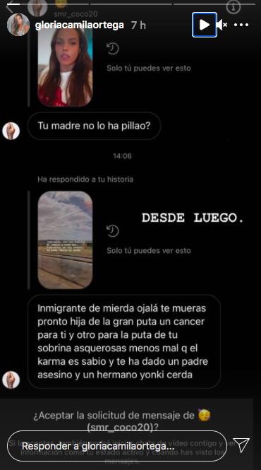 Perfil de Instagram de Gloria Camila