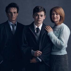Harry (Jamie Parker), Ginny (Poppy Miller) and Albus Potter (Sam Clemmett)