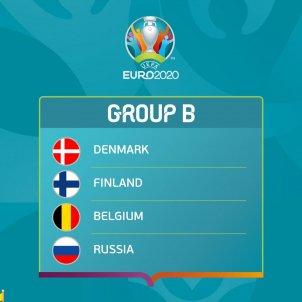 Grupo B Eurocopa Dinamarca Finlandia Belgica Rusia / UEFA
