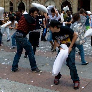 Batalla de coixins Donato Accogli