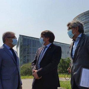 francesc Homs, Carles Puigdemont y Jordi Pina