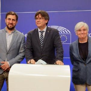 Toni Comín, Carles Puigdemont i Clara Ponsatí - EFE