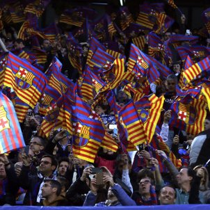 Camp Nou banderes Barça Champions Juventus EFE