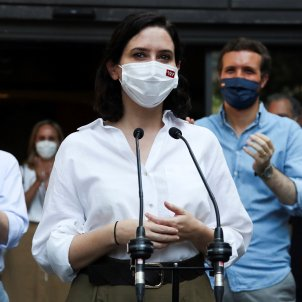 Isabel Díaz-Ayuso manifestación Madrid Colón Indultos Efe
