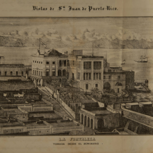 Litografia de San Juan de Puerto Rico (segle XIX). Font Archivo General de Puerto Rico