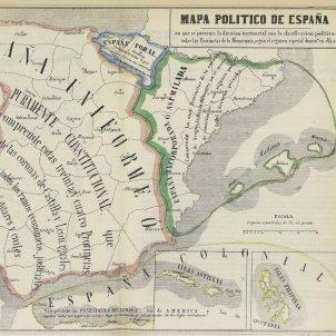 Partits judicials. Mapa polític Espanya 1850. Biblioteca Nacional de España