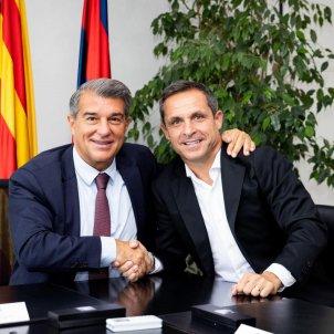 Joan Laporta Sergi Barjuan Barca @FCB