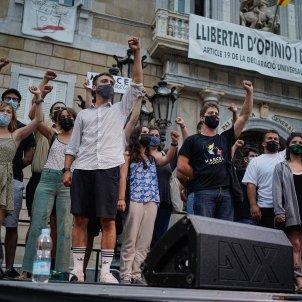 Concentración Marcel Vivet Absolución Pl Sant Jaume Barcelona / Pau de la Calle