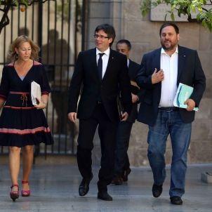 Munté - Junqueras - Puigdemont - Govern - efe