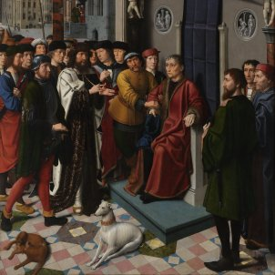 The Judgment of Cambyses, The capture of the corrupt judge Sisamnes (Gerard David, 1498)