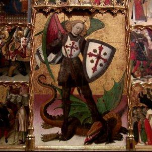Retaule de Sant Jordi. Museu Nacional d'Art de Catalunya