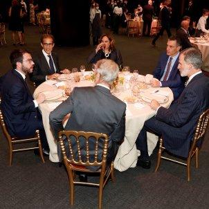 rei felip vi pere aragones ada colau pedro sanchez inauguracio taula mobile wolrd congress barcelona 2021 efe
