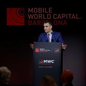 pedro sanchez inaguracio mobile world congress 2021 barcelona efe